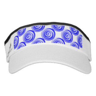 Ilusión espiral azul visera