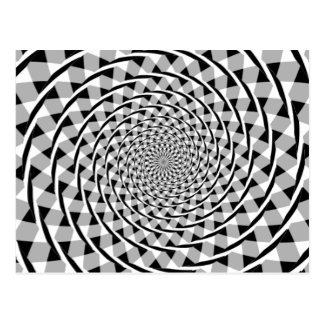 Ilusión espiral de Fraser Tarjeta Postal