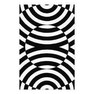Ilusión geométrica blanco y negro 002 papelería