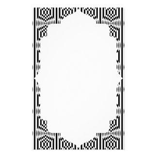 Ilusión geométrica blanco y negro 003 papelería