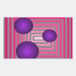 Ilusión gris púrpura rosada óptica del arte pegatinas