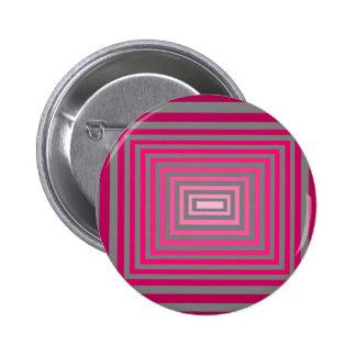 Ilusión gris púrpura rosada óptica del arte pin redondo 5 cm