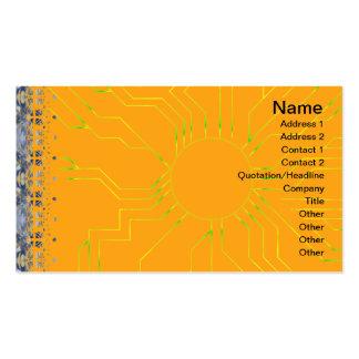Ilusión inconsútil de la hierba amarilla tarjetas de visita