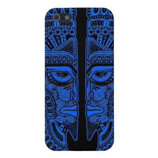 Ilusión maya azul de la máscara de los gemelos en  iPhone 5 carcasas
