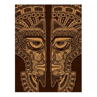 Ilusión maya de la máscara de los gemelos de Brown Postal