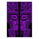 Ilusión maya púrpura de la máscara de los gemelos  tarjeta de visita