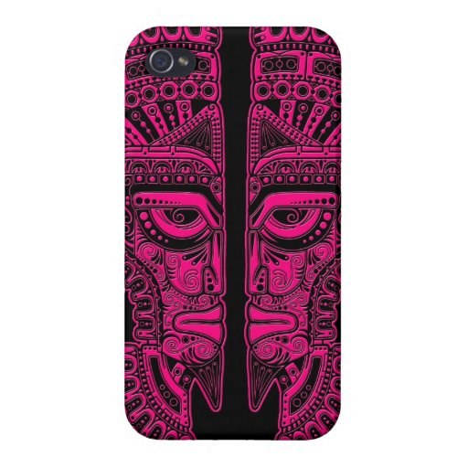 Ilusión maya rosada de la máscara de los gemelos e iPhone 4 carcasa