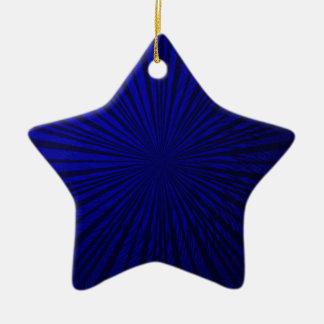 Ilusión metálica azul adorno de cerámica en forma de estrella