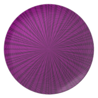 Ilusión metálica púrpura plato para fiesta