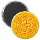 Ilusión óptica amarilla roja de Oddisphere Iman Para Frigorífico