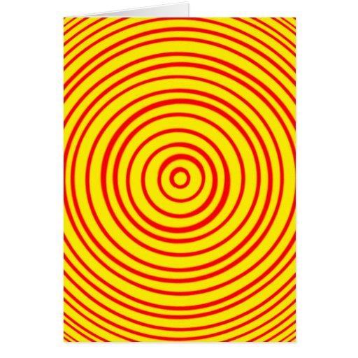 Ilusión óptica amarilla roja de Oddisphere Tarjetón