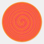 Ilusión óptica anaranjada rosada de Oddisphere Etiqueta
