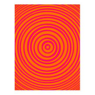 Ilusión óptica anaranjada rosada de Oddisphere Tarjetas Postales