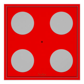 Ilusión óptica azul de torneado póster