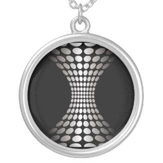 Ilusión óptica blanco y negro colgante redondo