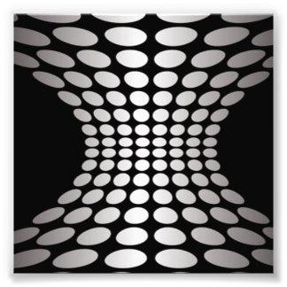 Ilusión óptica blanco y negro fotografías