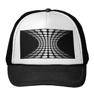 Ilusión óptica blanco y negro gorra