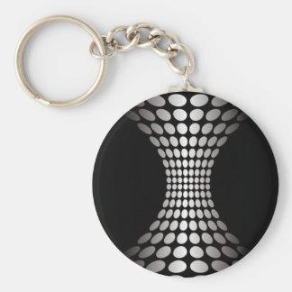 Ilusión óptica blanco y negro llavero