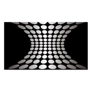 Ilusión óptica blanco y negro tarjeta de visita