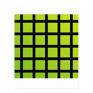 Ilusión óptica colorida postal