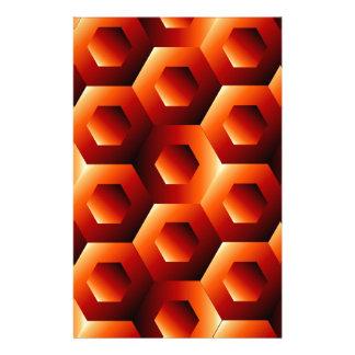 Ilusión óptica con hexágono papeleria