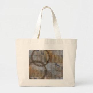 Ilusión óptica con la mancha 2 del café bolsa tela grande