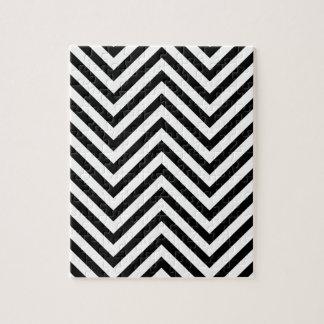 Ilusión óptica con las líneas puzzles