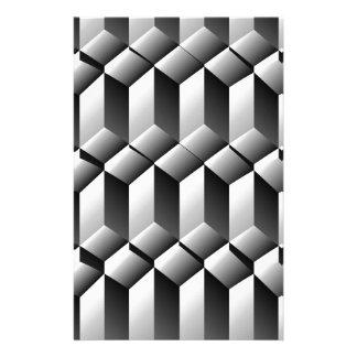 Ilusión óptica con pasos papelería