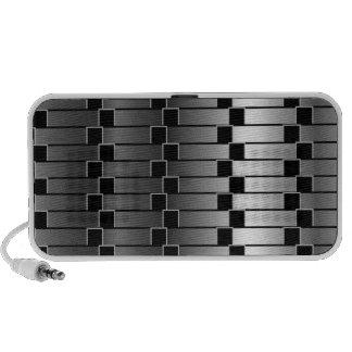Ilusión óptica contra pendiente metálica portátil altavoces