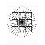 Ilusión óptica cuadrada tarjetas postales