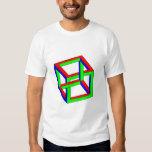 Ilusión óptica - cubo imposible del RGB Camisas