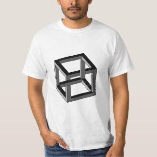 Ilusión óptica - cubo imposible playera