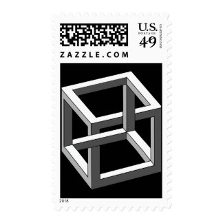 Ilusión óptica - cubo imposible sellos