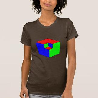 Ilusión óptica - cubos del RGB Remera