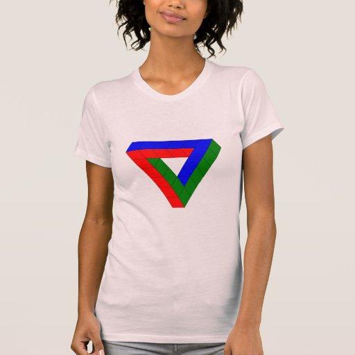 Ilusión óptica - cubos imposibles camiseta