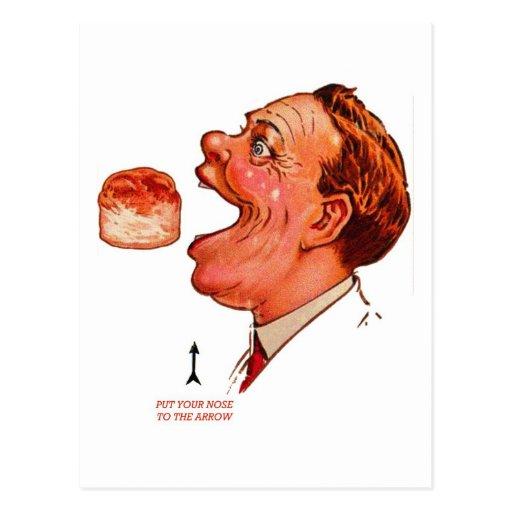 Ilusión óptica de Bob del vintage de la galleta Postales