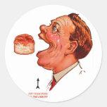 Ilusión óptica de Bob del vintage de la galleta re Etiqueta