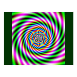 Ilusión óptica de Greenpink Tarjetas Postales