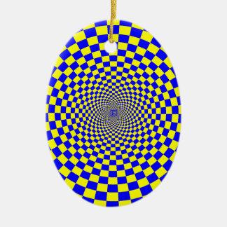 Ilusión óptica de Hypnotix Adorno Ovalado De Cerámica