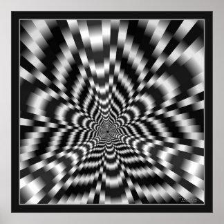 Ilusión óptica de la alta velocidad póster