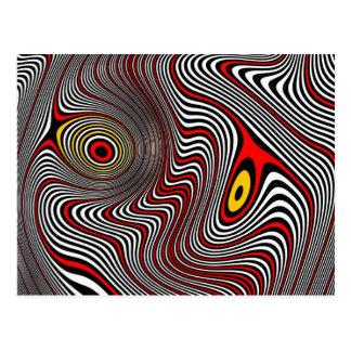 Ilusión óptica de la aureola de la jaqueca tarjeta postal