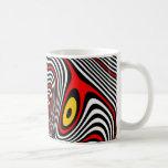 Ilusión óptica de la aureola de la jaqueca tazas de café