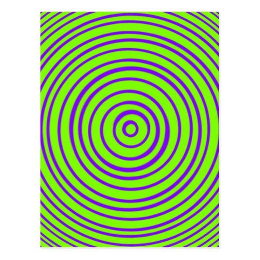 Ilusión óptica de la cal púrpura de Oddisphere Tarjetas Postales