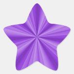 Ilusión óptica de la estrella púrpura pegatina en forma de estrella