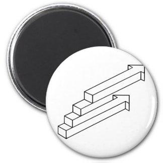 Ilusión óptica de la flecha o de las escaleras imanes para frigoríficos