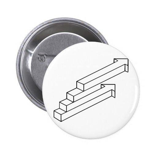 Ilusión óptica de la flecha o de las escaleras pin
