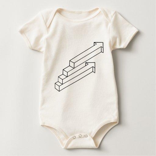 Ilusión óptica de la flecha o de las escaleras trajes de bebé