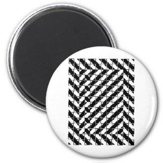 Ilusión óptica de la forma cuadrada iman para frigorífico