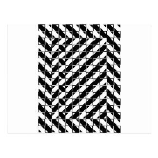 Ilusión óptica de la forma cuadrada tarjetas postales