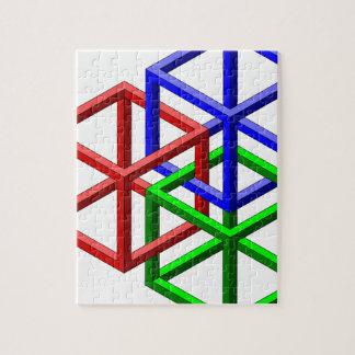 Ilusión óptica de la geometría imposible de los cu